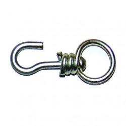 Вертушка маленькая с крючком круглая оцинкованная - вертлюг для привязи скота (КРС)