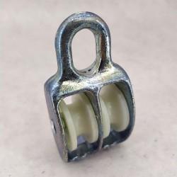 Блок такелажный двойной 20 мм - блочок нейлоновый для подъема груза