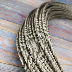 Трос нержавеющий 4 мм 7 × 19 (сталевий канат з нержавійки)