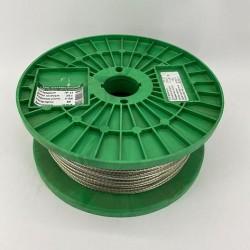 Трос металлополимерный в оболочке ПВХ ПР 6.0 мм, моток 100 м Белорусский