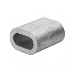 Зажим для троса алюминиевый 6 мм обжимной Din 3093