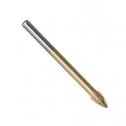 Сверло для плитки и стекла, крест (титан) 6 мм