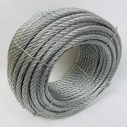 Трос стальной оцинкованный ISO 2408 (6х12) 12 мм 100 м