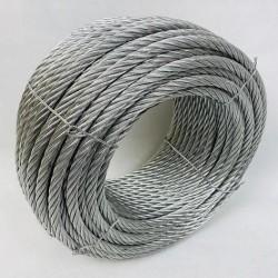 Трос стальной оцинкованный ISO 2408 (6х12) 8 мм 100 м